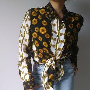 Vintage sunflower blouse